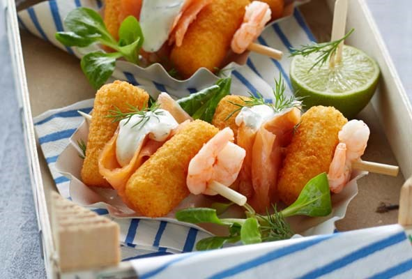 Croquettes with salmon